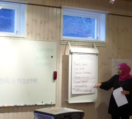 Håller workshop i hur man gör en behovsanalys.